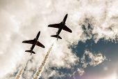 Red Arrow Aerobatic Flight Show In Tallinn, Estonia
