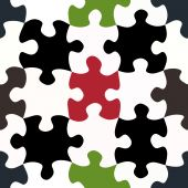 Contrasty Jigsaw Pieces Pattern