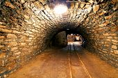Underground Mine Tunnel, Mining Industry