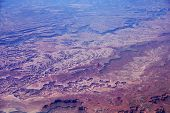 Aerial View Of Southwest Usa Country Side Landscape
