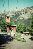 Cableway In The Mountains, Argientere ,france