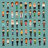 Group Cartoon People