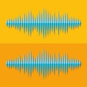 Flat stereo music wave icon