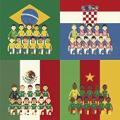 Football Team And Flag, Group A