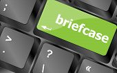 Briefcase Text Button On Keyboard With Soft Focus