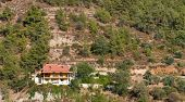 picture of chalet  - Mountain chalet on an idyllic place in the forest at Troodos mountains Cyprus - JPG