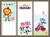 Cute cartoon animals gift tags/ greeting card