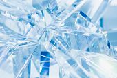 image of refraction  - abstract blue background of crystal refractions - JPG