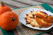 Pumpkin Dessert With Almond And Raisins