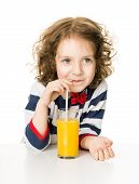 Kid Drinking Orange Juice