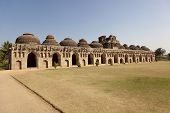 Elephant stables at Royal enclosure - Vijayanagara complex - one of the highlight of the Hampi templ