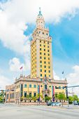 MIAMI,USA - MAY 27,2014 : The Freedom Tower in downtown Miami, a symbol of the cuban immigration to