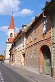 stock photo of sibiu  - Sibiu town in Transylvania Romania - JPG