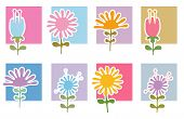 Retro Flowers Icons