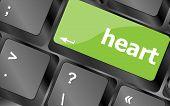 Modern Keyboard Keys With A Word Heart