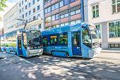 Modern Tram In Oslo, Norway