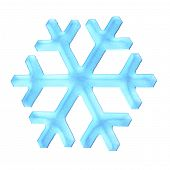 Illustration of detailed snowflakes.