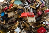 Love Locks On Bridge