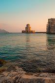 The Bourtzi tower in Methoni , Peloponnese, Greece