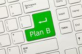 White Conceptual Keyboard - Plan B (green Key)