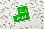 White Conceptual Keyboard - Read (green Key)