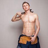 Portrait Of Sexy Body Worker