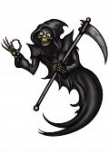 Funny Grim Reaper With Ok Gesture