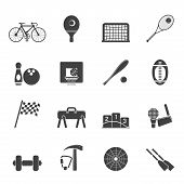 Silhouette Simple Sports gear and tools icons