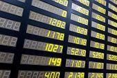 stock or currency exchange market displau screen board