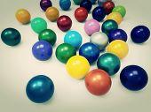 Colorful chromeball