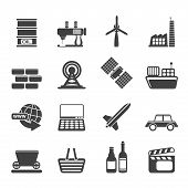 Silhouette Simple Business and industry icons