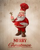 Santa Claus Pastry Chef Greeting Card