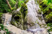 Amazing Of Bua Tong Waterfall In Chiang Mai, Thailand.