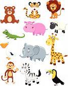 Wild animal cartoon collection set