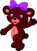 Happy cartoon baby bear