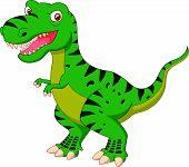 foto of tyrannosaurus  - illustration of Tyrannosaurus cartoon isolated on white - JPG