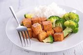 grilled tofu with soy sauce