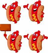 Cute sausage cartoon