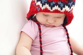 Cute Baby In Funny Hat