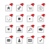 Special Flat Ui Icons With Christmas Design For Web And Mobile Applications