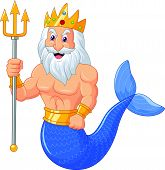 Poseidon cartoon