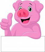 Pig giving thumb up
