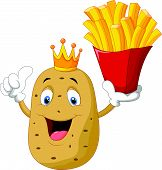 King chef potato holding a french fries