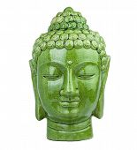 Buddha head green