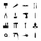 Building Silhouettes Icons Set
