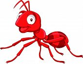 a cartoon red ant