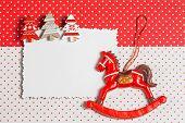 Blank christmas greeting card with decor