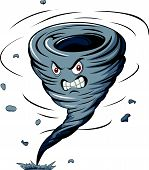 Angry cartoon tornado
