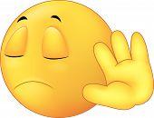 Talk to my hand gesture, emoticon