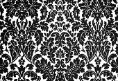 black and white baroque pattern